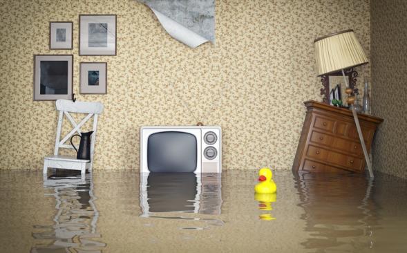 Überflutung im Haus